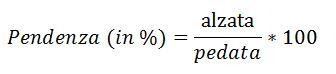 Calcolo inclinazione e pendenza scala